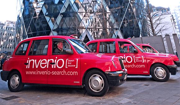 Black taxi advertising - Invenio